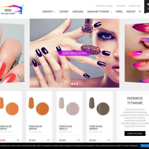 Kolorowe paznokcie tytanowe