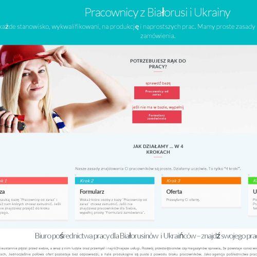 Oferta pracowników z Białorusi