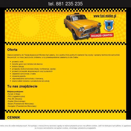 Taxi w Mielcu