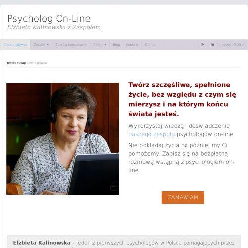 Terapie psychologiczne przez internet