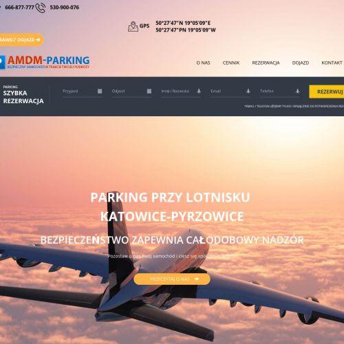Parking przy lotnisku w Katowicach