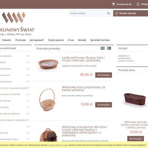 Sklep online z wyrobami z wikliny