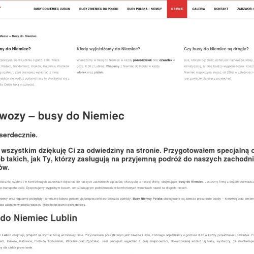 Busy na trasie Polska-Niemcy z Lublina