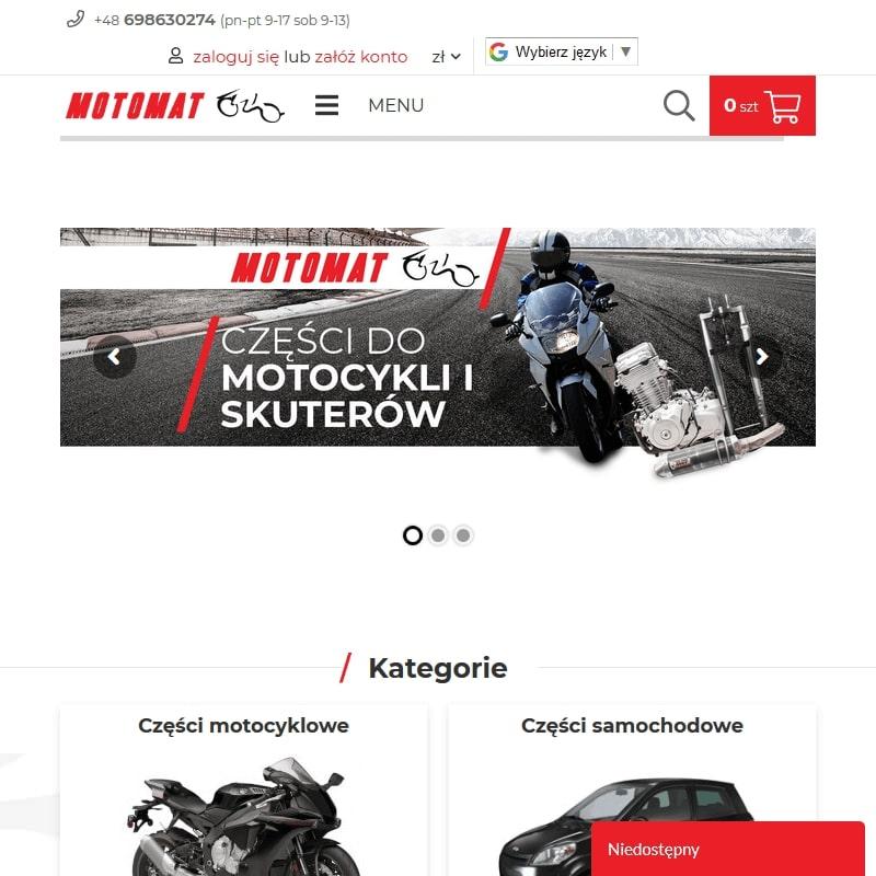 Części motocyklowe Suzuki oraz Yamaha