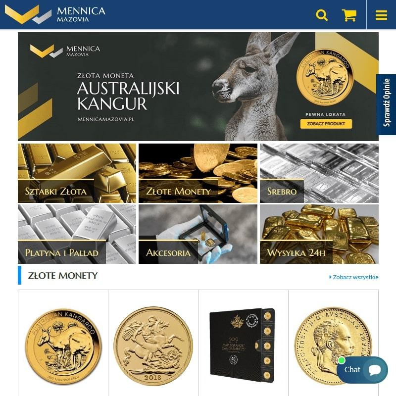 Złote i srebrne monety bulionowe