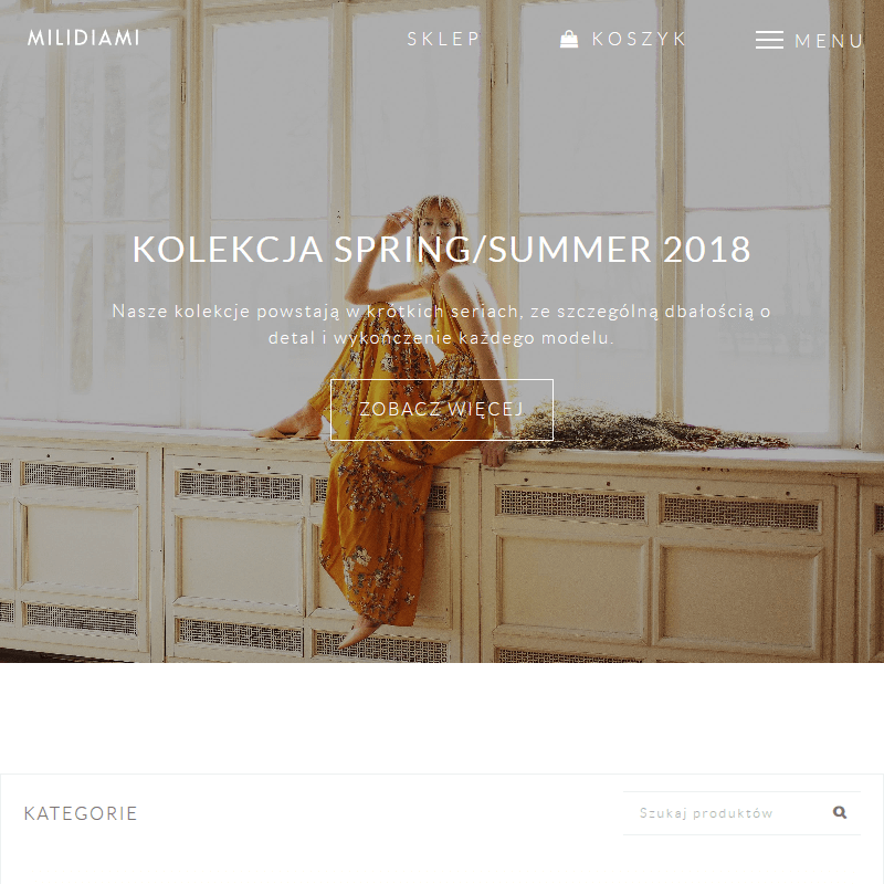 Markowy sklep odzieżowy online
