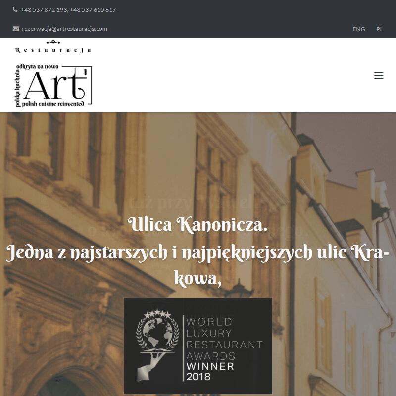 Restauracja z autorskim menu - Kraków