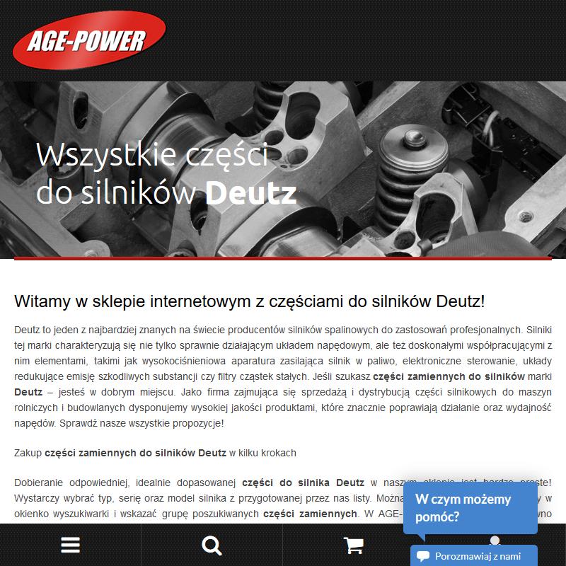 Części zamienne do silników marki Deutz