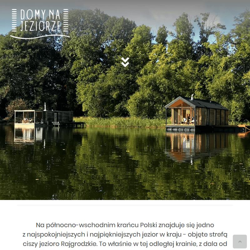 Ekskluzywne domki wędkarskie nad jeziorem