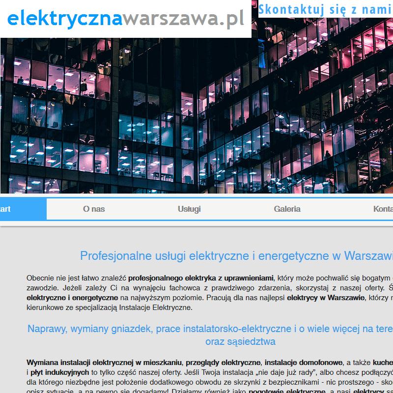 Prace instalatorsko-elektryczne - Warszawa