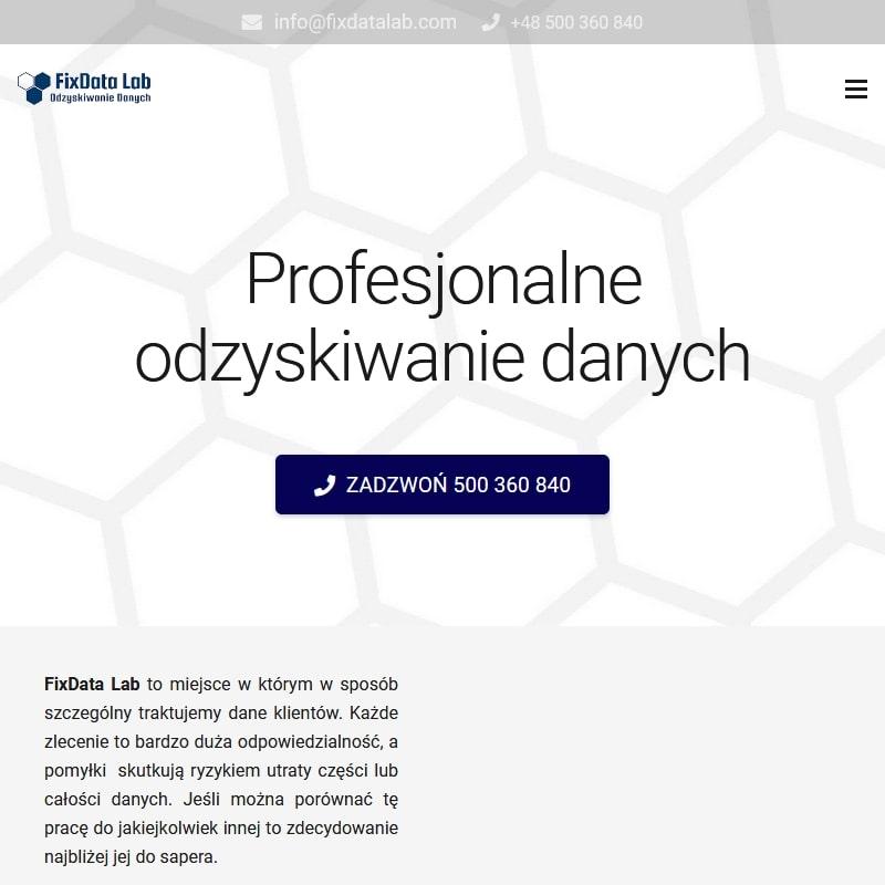 Odzyskiwanie danych z dysków – Warszawa