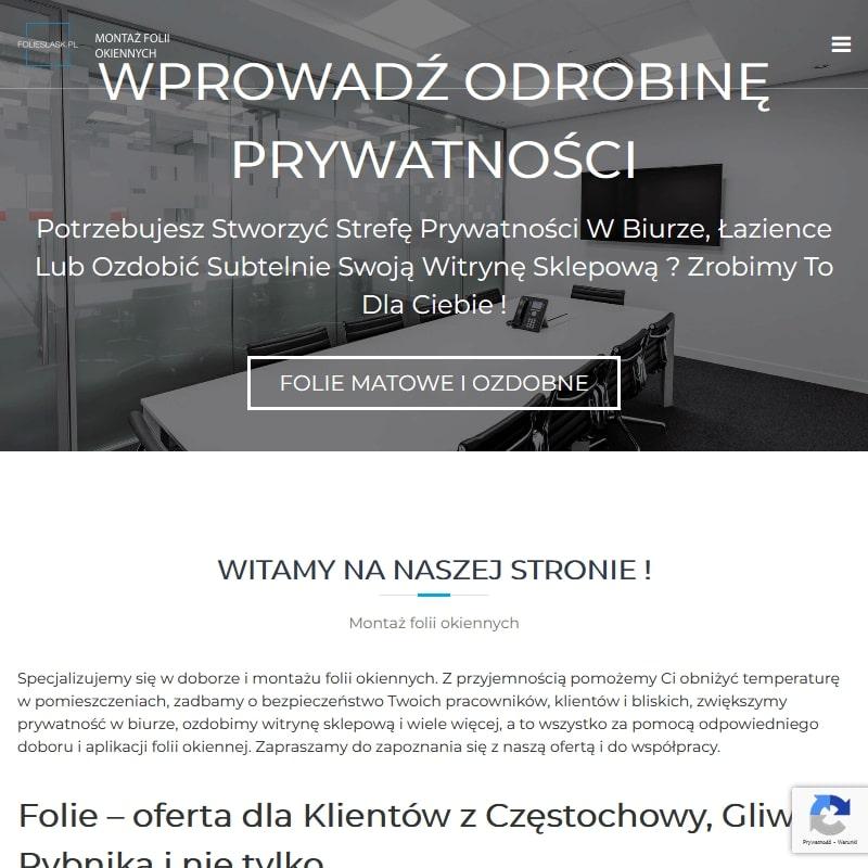 Oklejanie szyb dla Klientów z Katowic