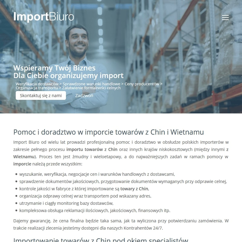 Importem towarów z Chin i Wietnamu