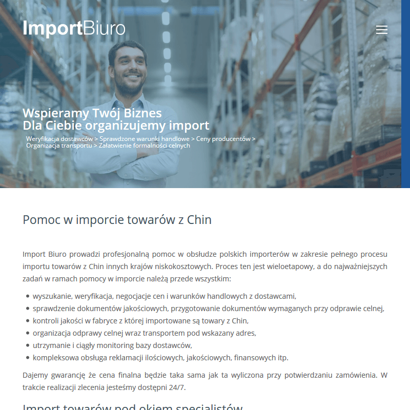 Import towarów z Korei
