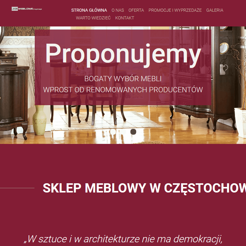 Meble do salonu - Częstochowa