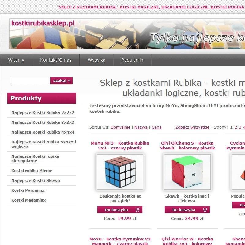Sklepy z kostką Rubika