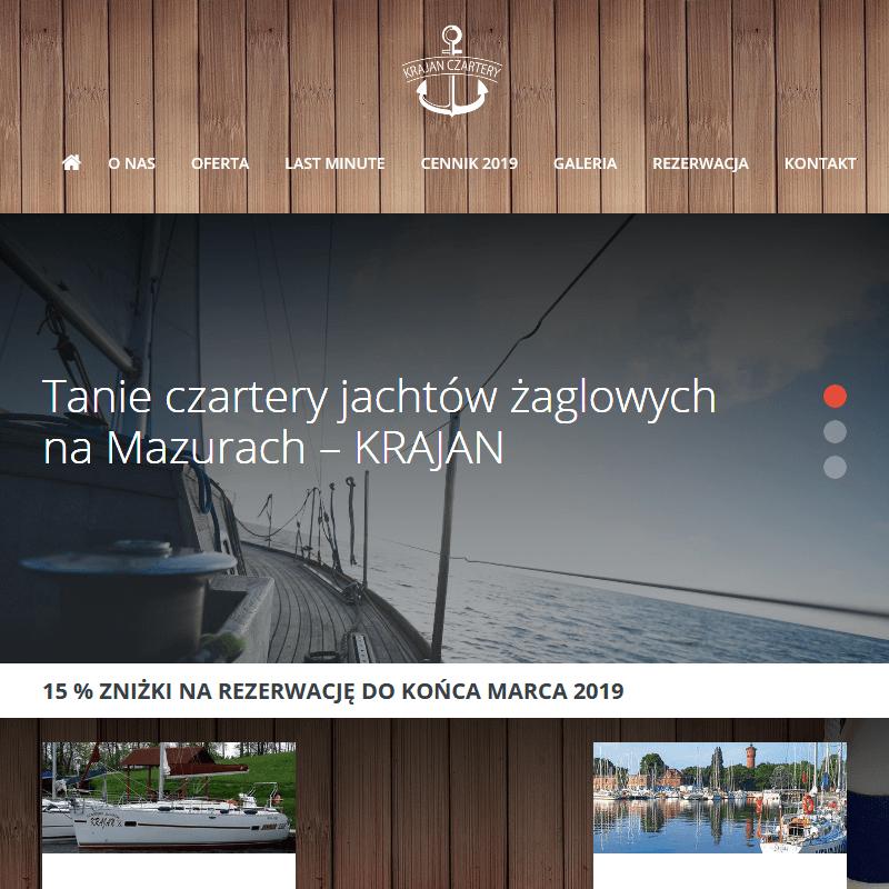 Czartery jachtów żaglowych na Mazurach