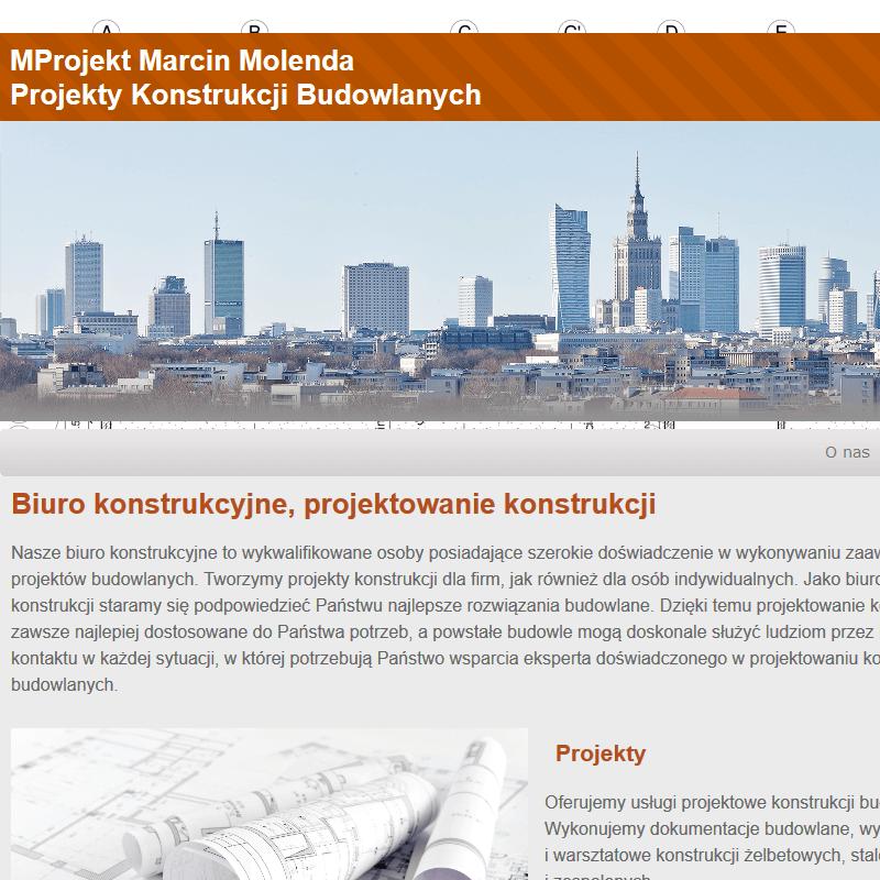 Projekty konstrukcji budowlanych - Mazowieckie