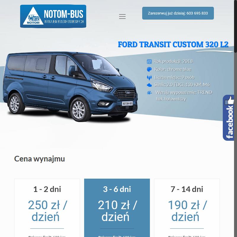 Wypożyczalnia busów osobowych - Leszno