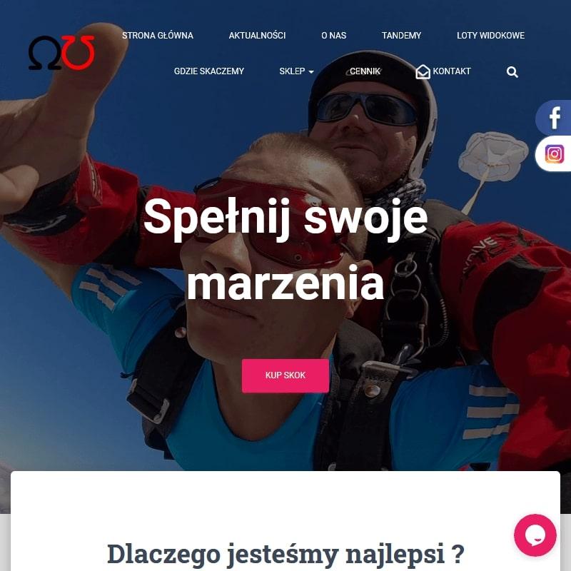 Skoki ze spadochronem na lotnisku w Rybniku