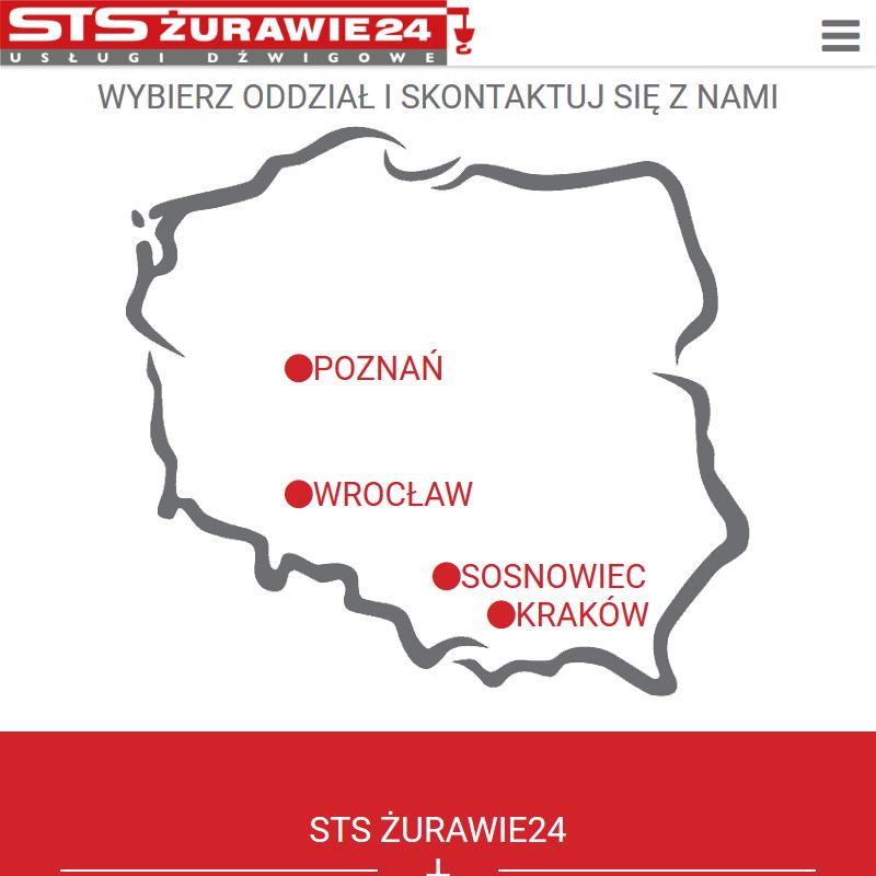 Wypożyczalnia dźwigów - Kraków. Wrocław